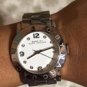 Amy White Dial Stainless Steel Ladies Watch